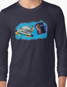 Doctor Who Back  to the Future Long Sleeve T-Shirt
