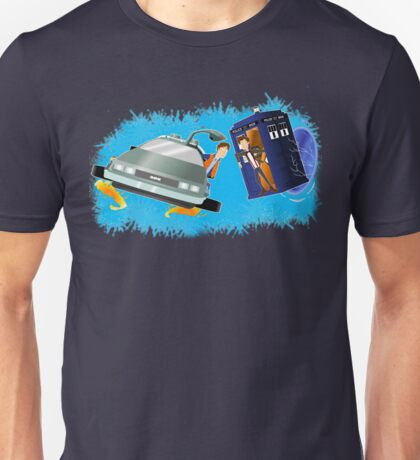 Doctor Who Back  to the Future Unisex T-Shirt