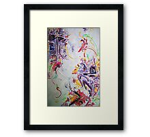 Party in Purple Framed Print