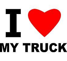 I Love My Truck Photographic Print