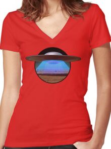 Arriving on Altair IV Women's Fitted V-Neck T-Shirt