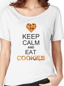 Keep calm and eat cookies Women's Relaxed Fit T-Shirt