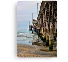 Pier-side Newport Canvas Print