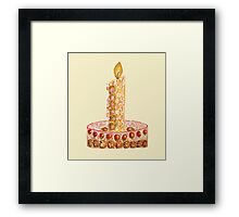 Strawberry cake for Christmas Framed Print