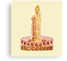 Strawberry cake for Christmas Canvas Print