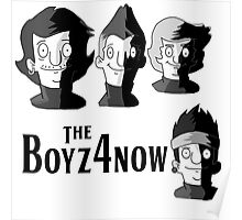 Meet The Boyz4Now! (light color options with black text) Poster