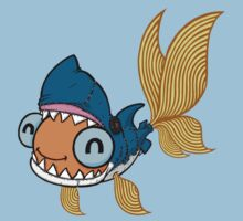 Goldfish in a Shark Costume! One Piece - Short Sleeve