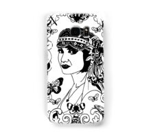 The Lady in the Floral, Butterfly Window. Samsung Galaxy Case/Skin