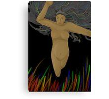 Lady flying Canvas Print
