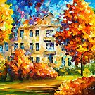 ORANGE HOUSE by Leonid  Afremov