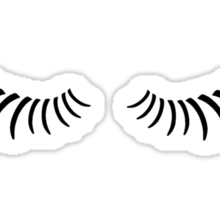 Eye lashes looking down. Sticker