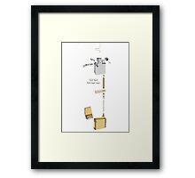 Anatomy of a lighter Framed Print
