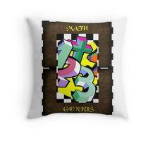 Maths Genius Throw Pillow
