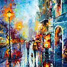 CITY FIRE by Leonid  Afremov