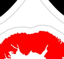 Aviator Sunglasses and Kiss Sticker