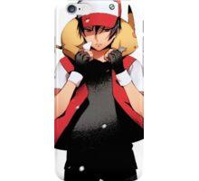Red & Pikachu iPhone Case/Skin