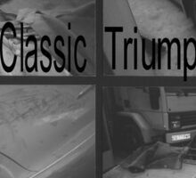 Love, Drive, Classic, Triumph Sticker