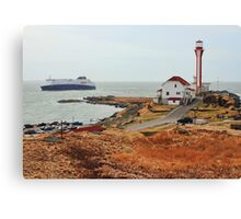 Nova Star Ferry Rounds Cape Forchu for the First Time Canvas Print
