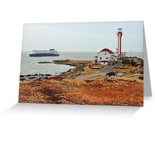 Nova Star Ferry Rounds Cape Forchu for the First Time Greeting Card