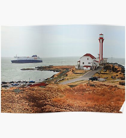 Nova Star Ferry Rounds Cape Forchu for the First Time Poster