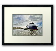 Nova Star Ferry at the Lobster Rock Wharf Framed Print