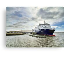 Nova Star Ferry at the Lobster Rock Wharf Canvas Print