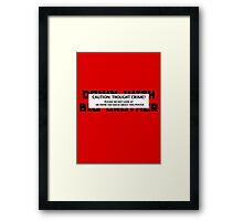 thought crime Framed Print