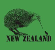 new zealand, kiwi bird Kids Tee
