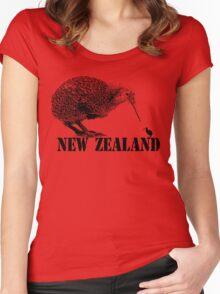 new zealand, kiwi bird Women's Fitted Scoop T-Shirt