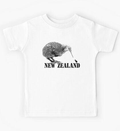 new zealand, kiwi bird Kids Tee