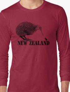 new zealand, kiwi bird Long Sleeve T-Shirt