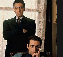 The Godfather - Al Pacino, Robert De Niro by B-Group