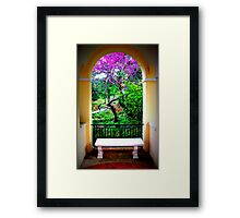 Archway at Airlie Framed Print