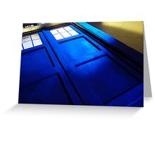doctor who tardis case Greeting Card