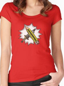 The Pen Is Mightier Women's Fitted Scoop T-Shirt