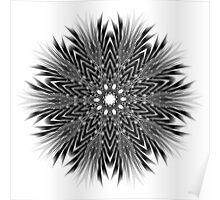 Black and White Zoom Kaleidoscope Poster