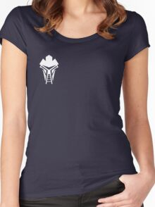 Cylon Mask Small Logo Women's Fitted Scoop T-Shirt