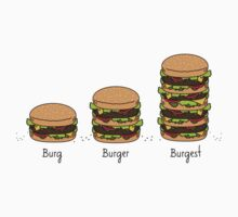 Burger explained: Burg. Burger. Burgest Kids Tee