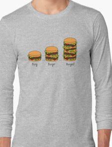Burger explained: Burg. Burger. Burgest Long Sleeve T-Shirt