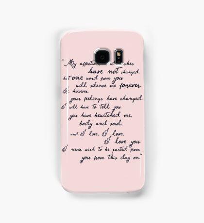 Pride and Prejudice, Darcy (black) Quote  Samsung Galaxy Case/Skin