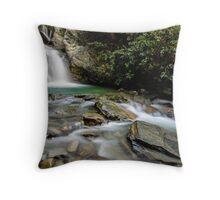 Lake Face Creek Falls - New Zealand Throw Pillow