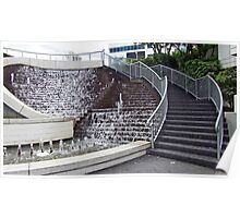 Water Fountain Steps Poster