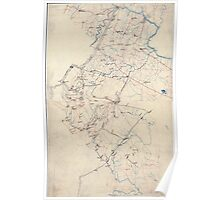 Civil War Maps 2192 Preliminary map of northern Virginia embracing portions of Loudoun Fauquier Prince William and Culpeper counties Poster