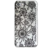 Black Flower Pattern iPhone Case/Skin