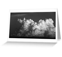CUMULUS CLOUDS IN BLACK AND WHITE Greeting Card