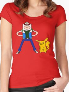 Poke-time Women's Fitted Scoop T-Shirt