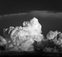 STORM BUILDING IN THE HORIZON by Sandra  Aguirre