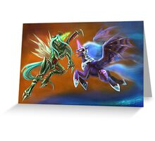 Nightmare vs Chrysalis Greeting Card