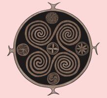 Martebo Spiral Viking Stone - Sepia version One Piece - Short Sleeve