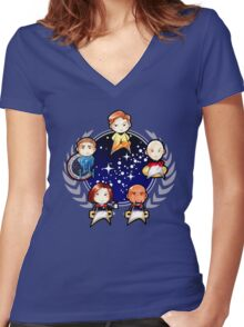 Chibi Trek Women's Fitted V-Neck T-Shirt